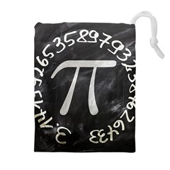Pi Drawstring Pouches (extra Large) by Valentinaart