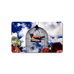 Vintage Bird In The Cage  Magnet (name Card) by Valentinaart