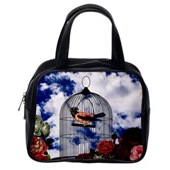 Vintage Bird In The Cage  Classic Handbags (one Side) by Valentinaart