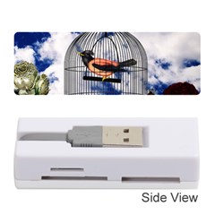 Vintage Bird In The Cage  Memory Card Reader (stick)  by Valentinaart