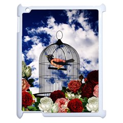 Vintage Bird In The Cage  Apple Ipad 2 Case (white) by Valentinaart