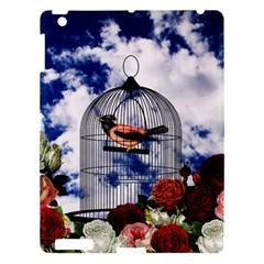 Vintage Bird In The Cage  Apple Ipad 3/4 Hardshell Case by Valentinaart