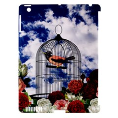 Vintage Bird In The Cage  Apple Ipad 3/4 Hardshell Case (compatible With Smart Cover) by Valentinaart