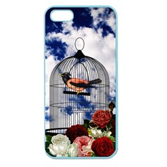 Vintage Bird In The Cage  Apple Seamless Iphone 5 Case (color) by Valentinaart