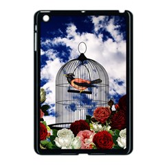 Vintage Bird In The Cage  Apple Ipad Mini Case (black) by Valentinaart