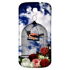 Vintage Bird In The Cage  Samsung Galaxy S3 S Iii Classic Hardshell Back Case by Valentinaart
