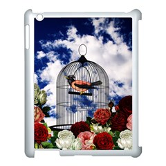 Vintage Bird In The Cage  Apple Ipad 3/4 Case (white) by Valentinaart