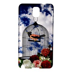 Vintage Bird In The Cage  Samsung Galaxy Note 3 N9005 Hardshell Case by Valentinaart