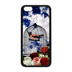 Vintage Bird In The Cage  Apple Iphone 5c Seamless Case (black) by Valentinaart