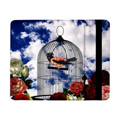 Vintage Bird In The Cage  Samsung Galaxy Tab Pro 8 4  Flip Case by Valentinaart