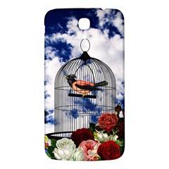 Vintage Bird In The Cage  Samsung Galaxy Mega I9200 Hardshell Back Case by Valentinaart
