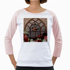 Vintage Bird In The Cage Girly Raglans by Valentinaart