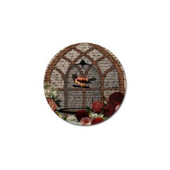 Vintage Bird In The Cage Golf Ball Marker (4 Pack) by Valentinaart