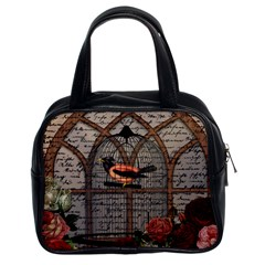 Vintage Bird In The Cage Classic Handbags (2 Sides) by Valentinaart