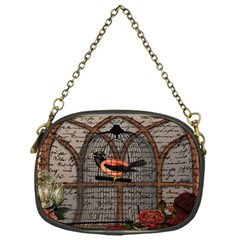 Vintage Bird In The Cage Chain Purses (one Side)  by Valentinaart