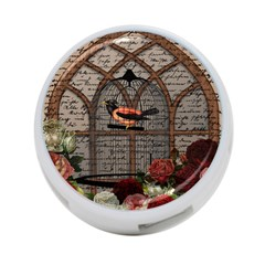 Vintage Bird In The Cage 4 Port Usb Hub (one Side) by Valentinaart