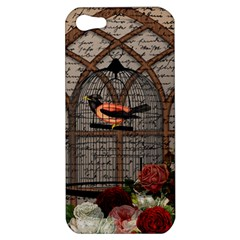 Vintage Bird In The Cage Apple Iphone 5 Hardshell Case by Valentinaart
