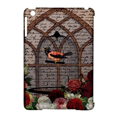 Vintage Bird In The Cage Apple Ipad Mini Hardshell Case (compatible With Smart Cover) by Valentinaart