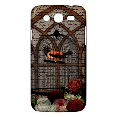 Vintage Bird In The Cage Samsung Galaxy Mega 5 8 I9152 Hardshell Case  by Valentinaart