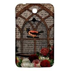 Vintage Bird In The Cage Samsung Galaxy Tab 3 (7 ) P3200 Hardshell Case  by Valentinaart