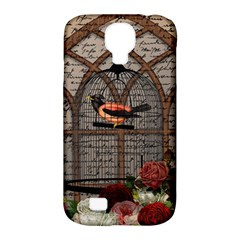 Vintage Bird In The Cage Samsung Galaxy S4 Classic Hardshell Case (pc+silicone) by Valentinaart
