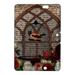 Vintage Bird In The Cage Kindle Fire Hdx 8 9  Hardshell Case by Valentinaart