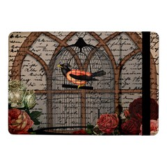 Vintage Bird In The Cage Samsung Galaxy Tab Pro 10 1  Flip Case by Valentinaart