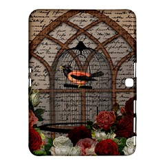 Vintage Bird In The Cage Samsung Galaxy Tab 4 (10 1 ) Hardshell Case  by Valentinaart
