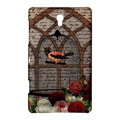 Vintage Bird In The Cage Samsung Galaxy Tab S (8 4 ) Hardshell Case  by Valentinaart