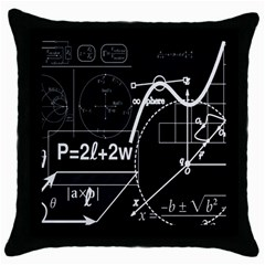 School Board  Throw Pillow Case (black) by Valentinaart