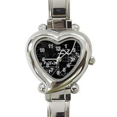 School Board  Heart Italian Charm Watch by Valentinaart