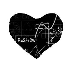 School Board  Standard 16  Premium Heart Shape Cushions by Valentinaart