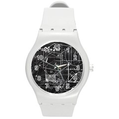 School Board  Round Plastic Sport Watch (m) by Valentinaart