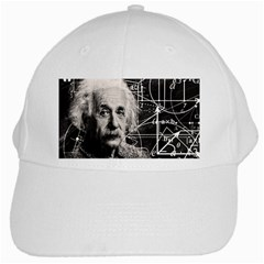 Albert Einstein White Cap by Valentinaart