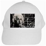 Albert Einstein White Cap Front
