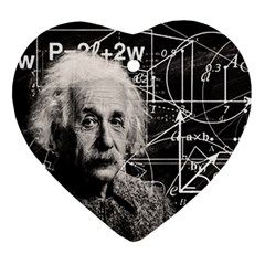 Albert Einstein Ornament (heart) by Valentinaart