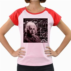 Albert Einstein Women s Cap Sleeve T Shirt by Valentinaart