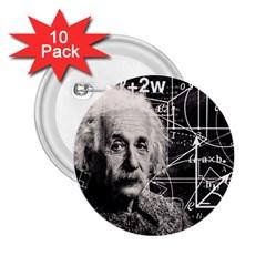 Albert Einstein 2 25  Buttons (10 Pack)  by Valentinaart