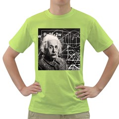 Albert Einstein Green T Shirt by Valentinaart