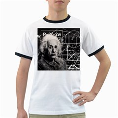 Albert Einstein Ringer T Shirts by Valentinaart