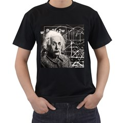 Albert Einstein Men s T Shirt (black) (two Sided) by Valentinaart