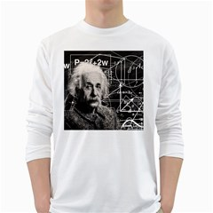 Albert Einstein White Long Sleeve T Shirts by Valentinaart