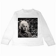 Albert Einstein Kids Long Sleeve T Shirts by Valentinaart