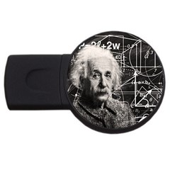 Albert Einstein Usb Flash Drive Round (4 Gb) by Valentinaart