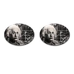 Albert Einstein Cufflinks (oval) by Valentinaart