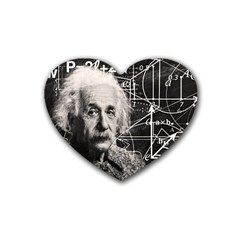 Albert Einstein Rubber Coaster (heart)  by Valentinaart