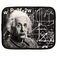 Albert Einstein Netbook Case (large) by Valentinaart