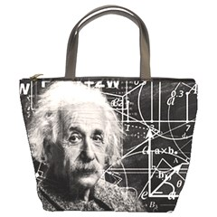 Albert Einstein Bucket Bags by Valentinaart