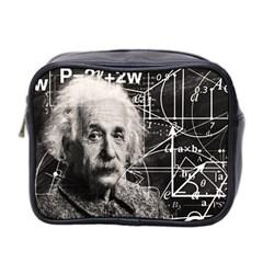 Albert Einstein Mini Toiletries Bag 2 Side by Valentinaart