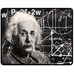 Albert Einstein Fleece Blanket (medium)  by Valentinaart